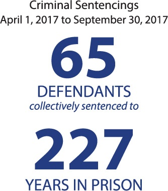 Criminal Sentencings April 1, 2017 to September 30, 2017